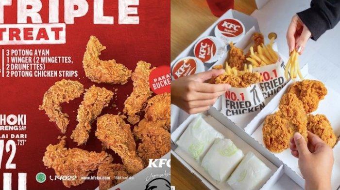 Promo KFC Hari Ini Beli Paket Tripple Treat Mulai Rp 72.000 Bisa Ajak Keluarga Makan Bersama