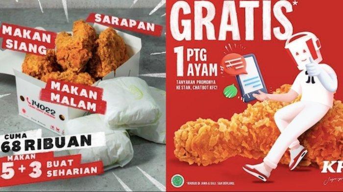 PROMO KFC Hari ini Dapatkan Hemat Mulai dari Menu Pukis Hingga Paket Ayam Goreng dan Nasi