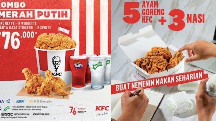 PROMO KFC HUT ke-76, Dapatkan Paket Kombo Mulai 76 Ribuan Dapat Ayam, Nasi dan Minum