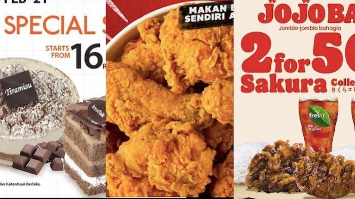Promo Makanan Kamis 18 Februari di JCO, KFC, Dunkin Donuts, Burger King, Pizza HUT, BreadTalk