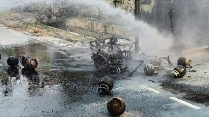 Kronologi Sepeda Motor Pengangkut Gas Elpiji Terbakar di Jatinegara