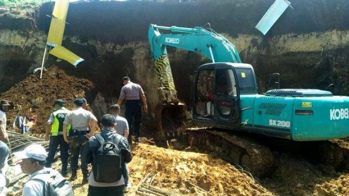 Proyek Double Track di Cigombong Longsor Bikin Dua Pekerja Tewas