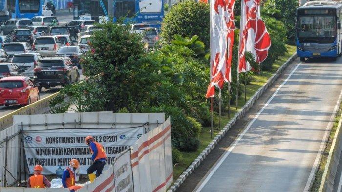 Bangun Stasiun Thamrin untuk MRT Fase 2A, Rekayasa Lalin Dilakukan