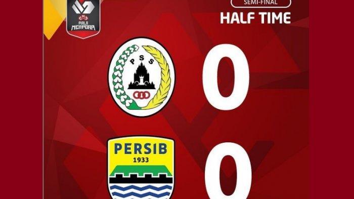 Babak 1 Leg 2 Semifinal Piala Menpora 2021 Persib vs PSS Sleman: Kedua Tim Gagal Manfaatkan Peluang
