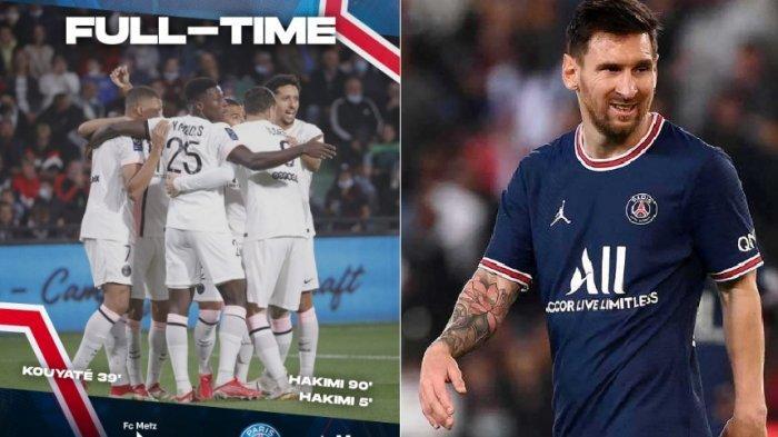 PSG Cetakan Kemenangan Sempurna, Kemenangan ke-7 Tanpa Diperkuat Messi, Achraf Hakimi Jadi Bintang