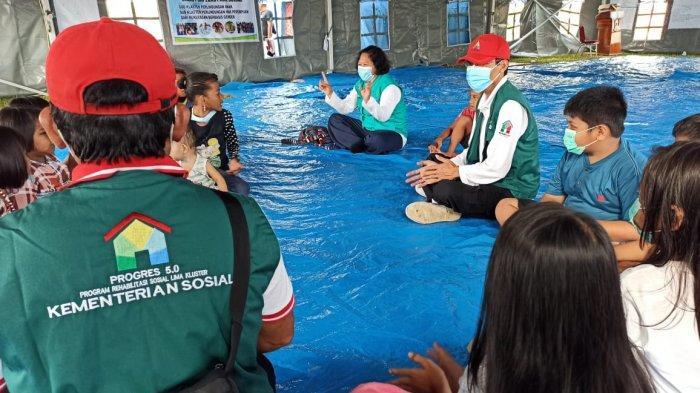 Kemensos Gelar Layanan Dukungan Psikososial bagi Penyintas Bencana Gempa Bumi di Mamuju