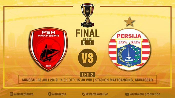 LINK Live Streaming Final Piala Indonesia 2019 PSM Makassar Vs Persija Jakarta, PSM Bakal Menyerang?
