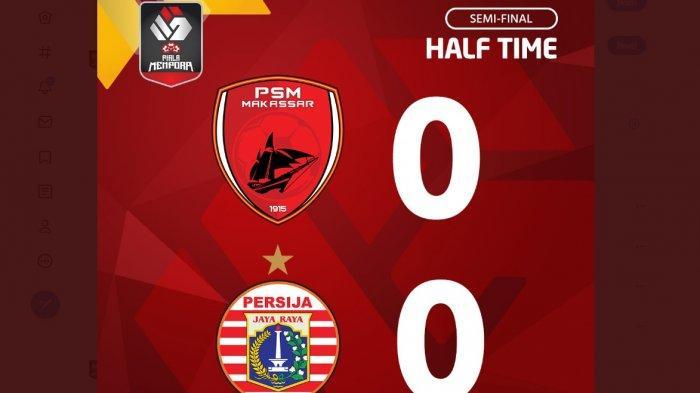 Babak Pertama PSM Makassar vs Persija 0-0, Macan Kemayoran Keteteran Untung Kiper Andritany Brilian