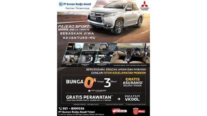 Bertenaga, Irit, dan Punya Fitur Keselamatan Canggih, Ini Ragam Promo Mitsubishi Pajero Sport Dakar
