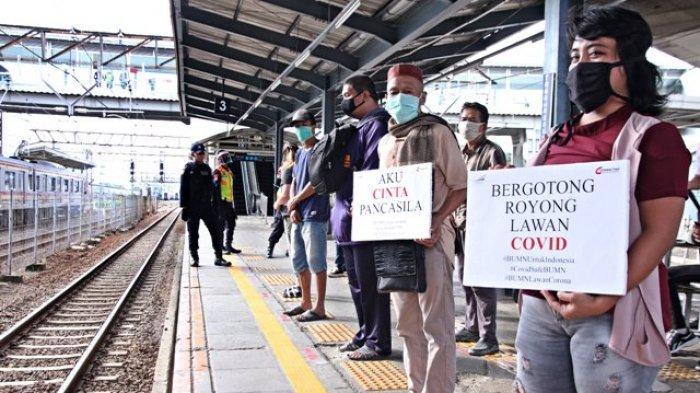 Peringati Hari Lahir Pancasila, PT KCI Ajak Pengguna KRL Berdisiplin Hadapi Pandemi Covid-19