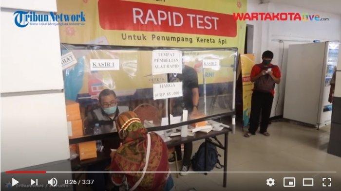Mulai Hari Ini Penumpang Kereta Api Harus Rapid Test Antigen Seharga Rp 125.000, Ini yang Disiapkan