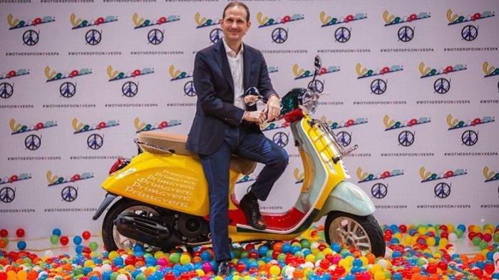 Presiden Direktur PT Piaggio Indonesia Marco Noto La Diega saat peluncuran Vespa Primavera Sean Wotherspoon Limited Edition secara virtual, Jumat (18/9/2020).