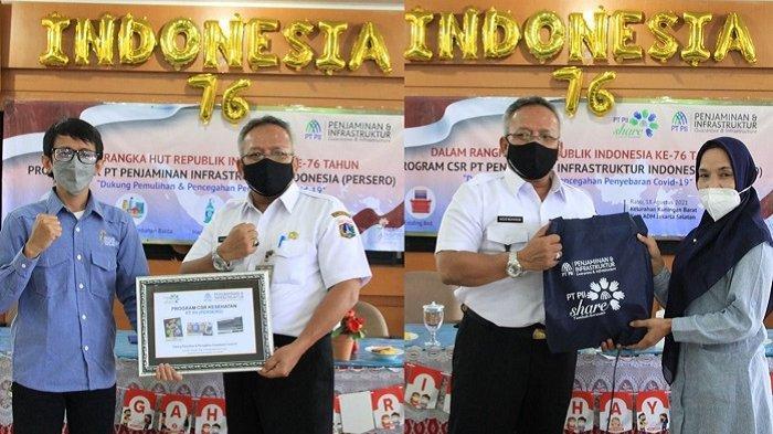 Gotong Royong Tangani Pandemi Covid-19, PT PII Persero Beri Bantuan ke Warga Kuningan Barat Jaksel