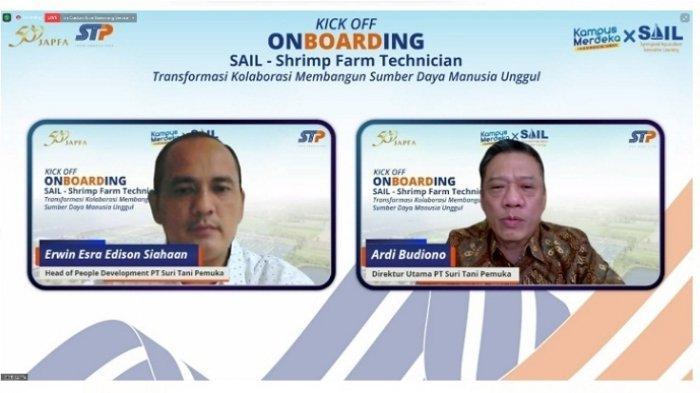 STP LepasPuluhan Mahasiswa Terpilih Program Magang SAIL–Shrimp Farm Technician STP