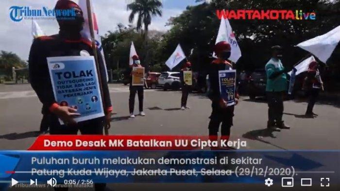 VIDEO Buruh Kembali Demonstrasi Desak MK Batalkan UU Cipta Kerja