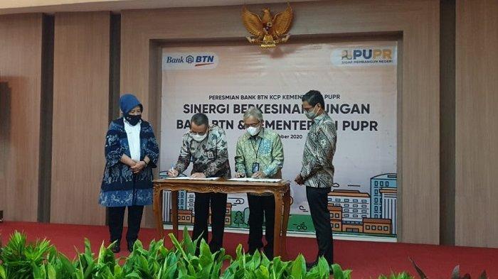 Tingkatkan Layanan KPR Bersubsidi, Kementerian PUPR Resmikan Kantor Cabang Bank BTN di Kampus PUPR