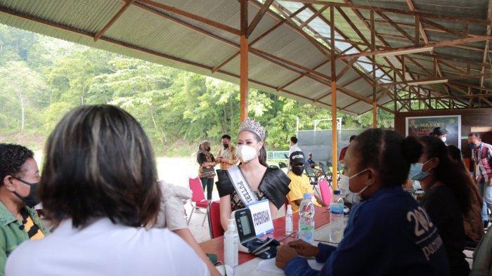 Putri Indonesia kunjungi Serbuan Vaksin Perbakin