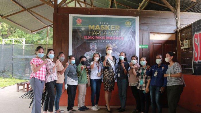 Putri Indonesia kunjungi Serbuan Vaksin Perbakin, Ajak Warga Papua ikut Vaksin