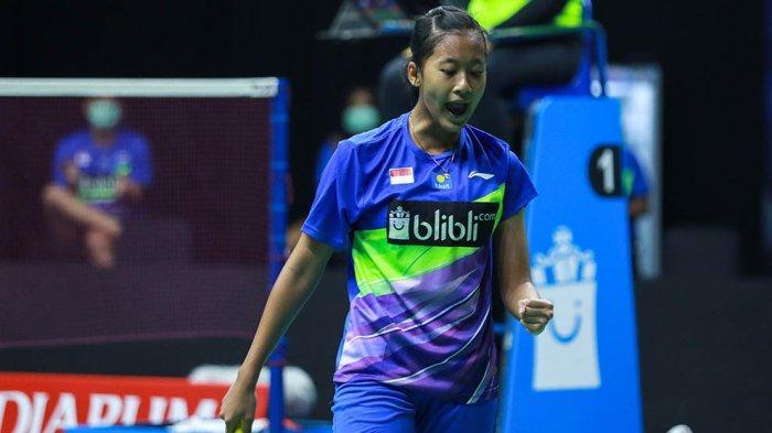 Putri Kusuma Wardani menyumbangkan angka kemenangan pertama untuk tim Harimau