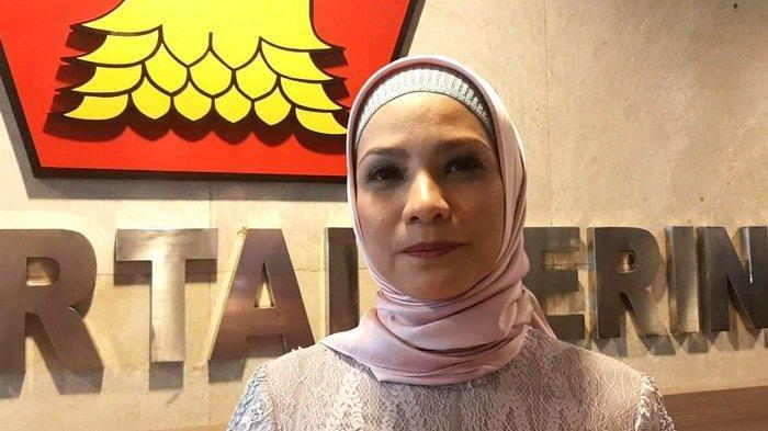 Rachel Maryam ditemui di Gedung DPR/MPR RI, kompleks Parlemen Senayan, Jakarta Pusat, Selasa (1/10/2019) usai pelantikan.