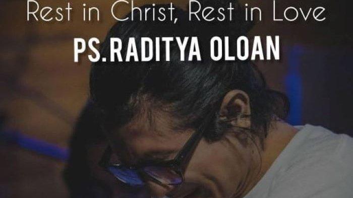 Raditya Oloan, suami pemain film Joanna Alexandra, dikabarkan meninggal dunia, Kamis (6/5/2021) petang.