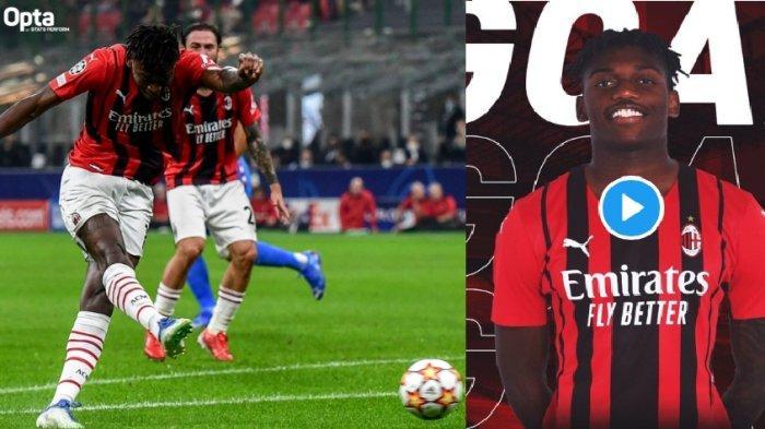 Sedang Berlangsung AC Milan vs Atletico Madrid 1-0, Gol Rafael Leao Tapi Kessie Kartu Merah