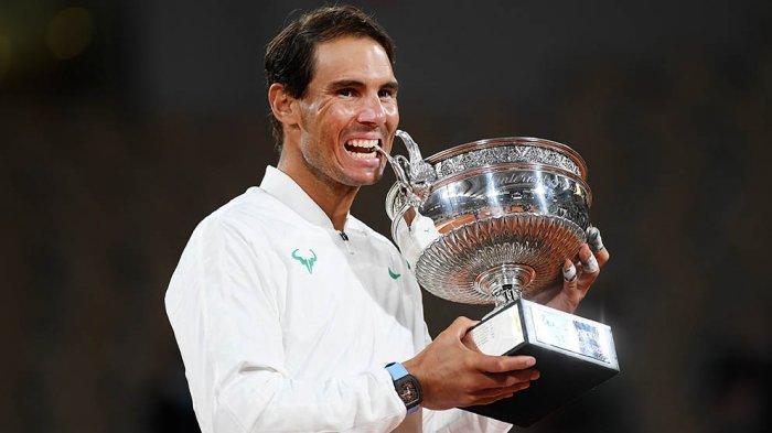 Ini kemenangan ke-100 Rafael Nadal di Roland Garros selama kariernya