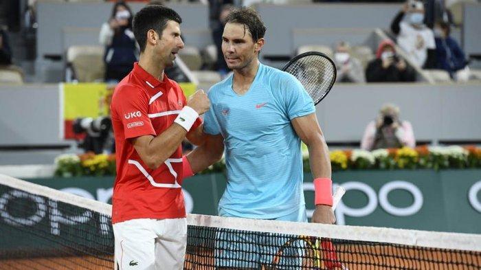 Di final Prancis Terbuka Rafael Nadal mengalahkan Novak Djokovic 3 set langsung