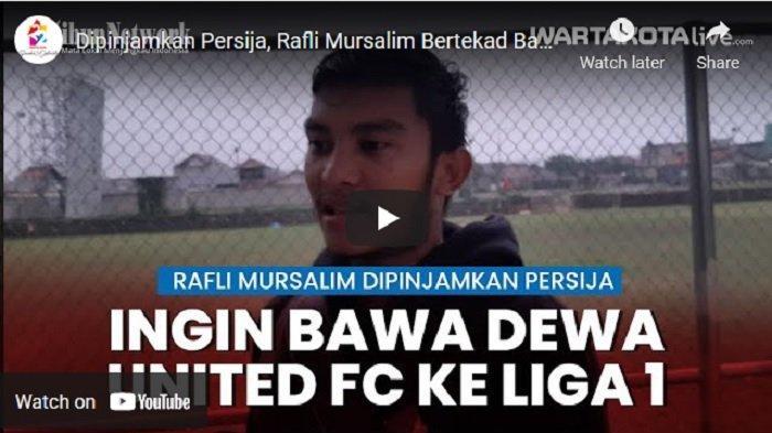 VIDEO Dipinjamkan Persija, Rafli Mursalim Bertekad Bawa Dewa United FC ke Liga 1 Indonesia