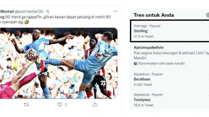 Hasil Lengkap dan Klasemen Liga Inggris, Raheem Sterling Trending karena 90 Menit Tak Ngapa-ngapain