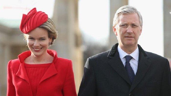 Raja dan Ratu Belgia Saksikan Langsung Laga Belgia Kontra Prancis