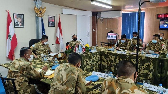 Rapat Dansatgas Kontingen Garuda Perkuat Langkah Pasukan Garuda Jaga Perdamaian di Lebanon
