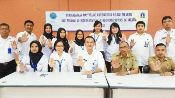Ratusan ASN Dinas Pendidikan DKI Jakarta Jalani Tes Urine