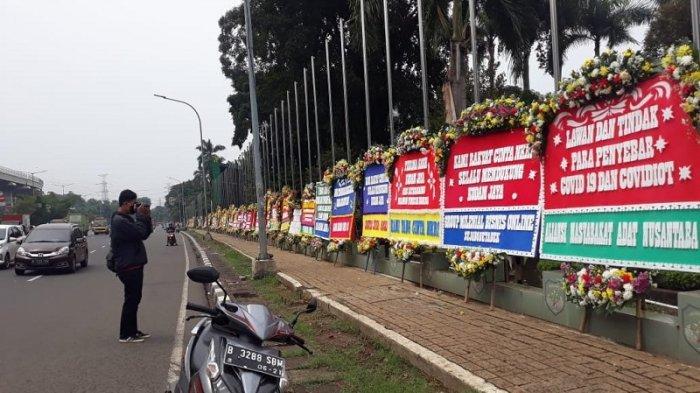 Ratusan Karangan Bunga Berisi Dukungan Padati Makodam Jaya, Begini Respon Mayjen Dudung