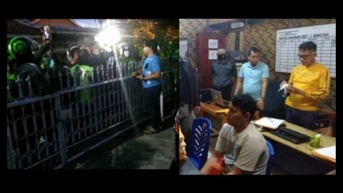 Pasca Video Pria Tendang Ojol Viral, Ratusan Ojol Geruduk Rumah Terduga Pelaku Lalu Diperiksa Polisi