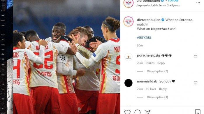 Menang Dramatis 4-3 Melawan Istanbul Basaksehir, RB Leipzig Geser PSG dan Buka Peluang ke 16 Besar