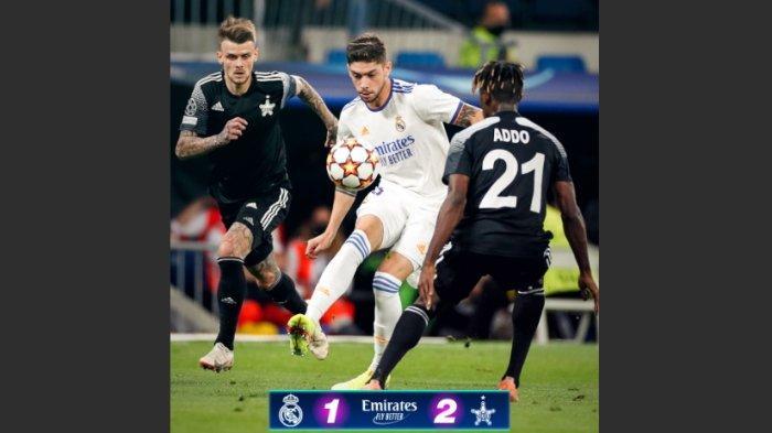 Hasil Lengkap Liga Champions, Kejutan Real Madrid Dipermalukan Sheriff 1-2, AC Milan ve Atletico 1-2