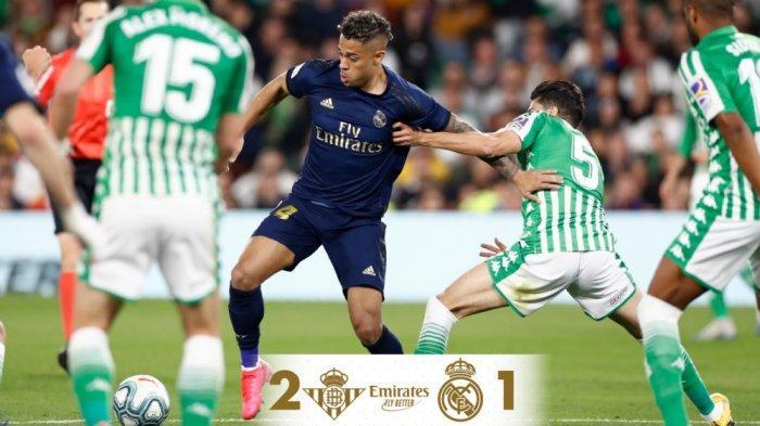 Hasil Lengkap Liga Spanyol, Dipermalukan Real Betis 2-1, Real Madrid Gagal Gusur Barca di Klasemen