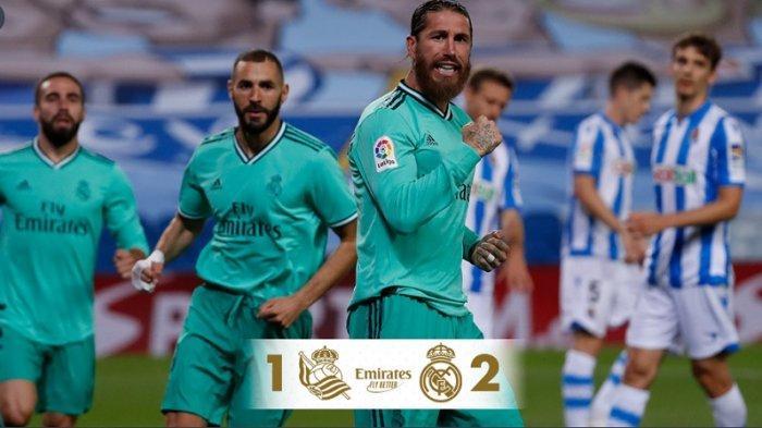 Hasil Pertandingan Liga Spanyol, Real Madrid Tundukkan Real Sociedad 2-1, Wasit 2 Kali Gunakan VAR