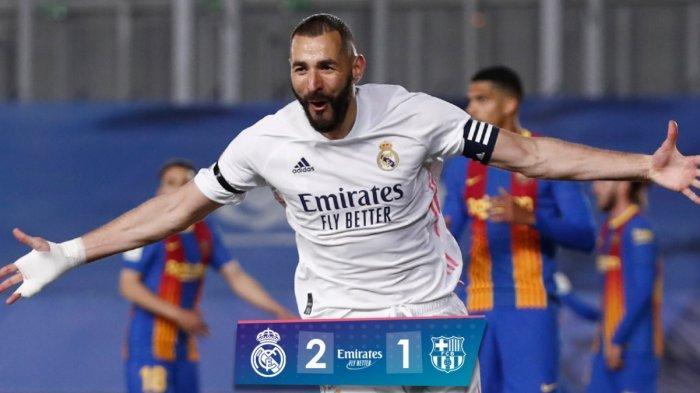 Kalahkan Barcelona 2-1, Real Madrid Ambil Alih Pimpinan Klasemen yang Lama Dikuasai Atletico  Madrid