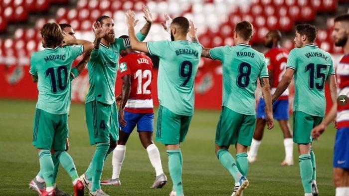 Hasil dan Klasemen Liga Spanyol, Kalahkan Granada 2-1, Real Madrid Diambang  Juara, Barca Tertekan - Warta Kota