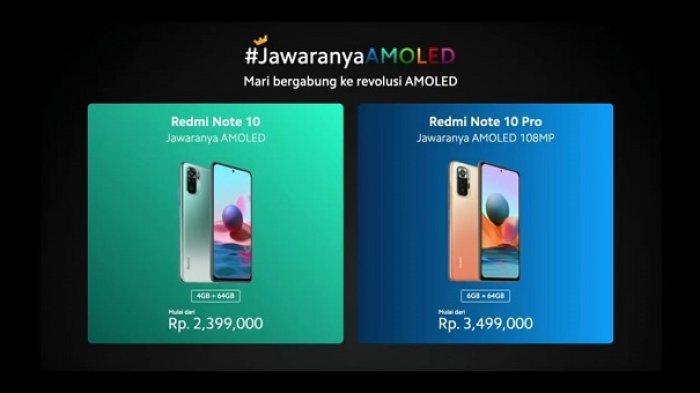 Redmi Note 10 dan Redmi Note 10 Pro