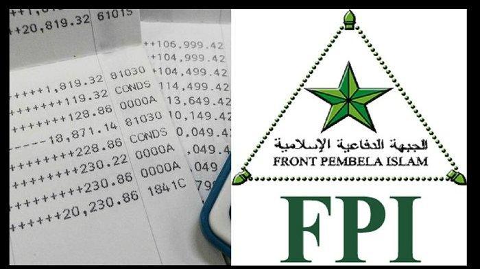 Rekening bank FPI diblokir pemerintah dengan nominal terkini saldo FPI Rp 1 miliar.