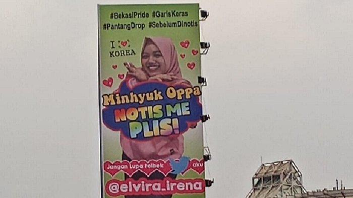 Viral, Gadis Bekasi Pasang iklan Diri di Papan Reklame Biar Diperhatikan Oppa Mihnyuk