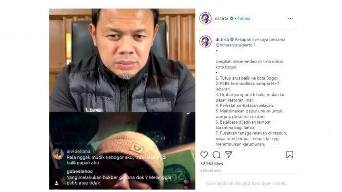 Ini Saran Dokter Tirta Kepada Bima Arya Sugiarto untuk Cegah Corona, Tutup Arus Balik ke Kota Bogor