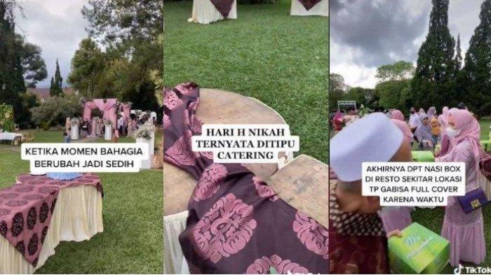 Viral, Resepsi Pengantin Diduga Kena Tipu Jasa Catering, Stand Makanan Kosong Melompong, Memilukan