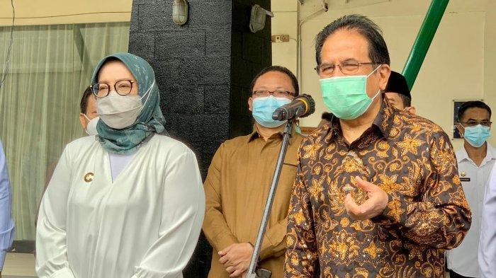 Menteri ATR/BPN Sofyan Djalil meresmikan beroperasinya Kantor perwakilan BPN di Cileungsi, Kabupaten Bogor, Rabu (17/2/2021). Kantor BPN ini hadir untuk melayani warga di 7 kecamatan di wilayah Bogor Timur.
