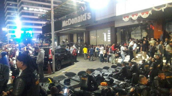 Ada Demo di Bawaslu, Pusat perbelanjaan dan Restoran Cepat Saji di Thamrin Tutup Lebih Awal