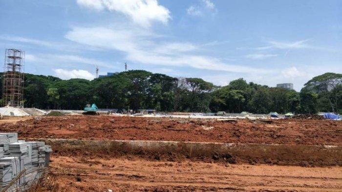 Revitalisasi Monas Dihentikan Sementara, Begini Penampakan Lokasi Proyek di Sisi Selatan Monas Itu
