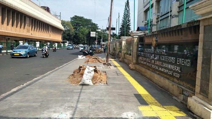 Imbas Revitalisasi, Pohon-Pohon di Jalan Cikini Raya Ditebang - revitalisasi-trotoar-cikini.jpg